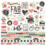 Simple Stories - Bloom Collection - 12 x 12 Cardstock Stickers - Combo