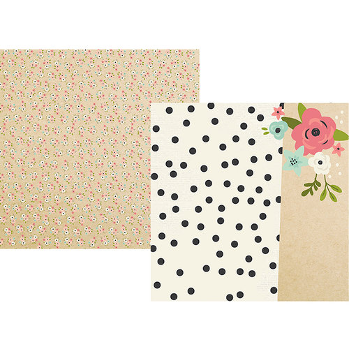 Simple Stories - Bloom Collection - 12 x 12 Double Sided Paper - Every Day Counts