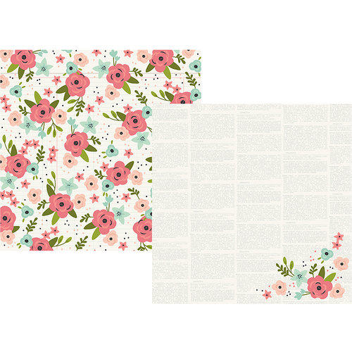 Simple Stories - Bloom Collection - 12 x 12 Double Sided Paper - Happy Times