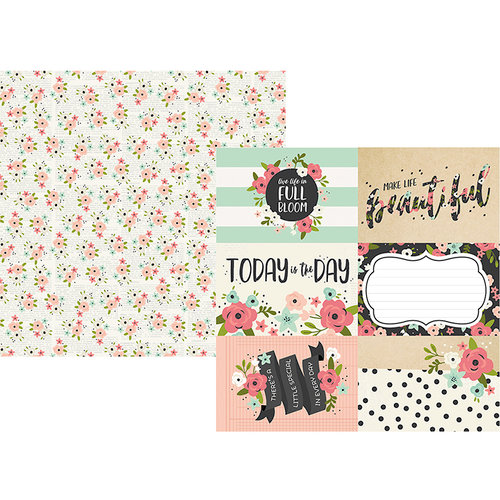 Simple Stories - Bloom Collection - 12 x 12 Double Sided Paper - 4 x 6 Elements