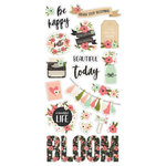 Simple Stories - Bloom Collection - Chipboard Stickers