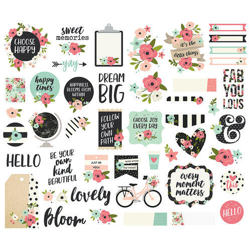Simple Stories - Bloom Collection - Bits and Pieces