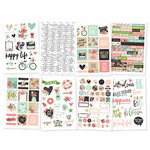Simple Stories - Bloom Collection - Cardstock Stickers