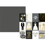 Simple Stories - Always and Forever Collection - 12 x 12 Double Sided Paper with Foil Accents - 3 x 4 Elements