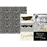 Simple Stories - Always and Forever Collection - 12 x 12 Double Sided Paper with Foil Accents - 4 x 6 Horizontal Elements