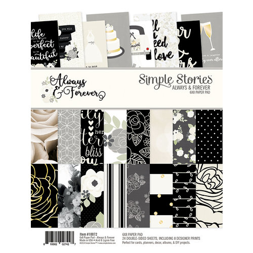 Simple Stories - Always and Forever Collection - 6 x 8 Paper Pad