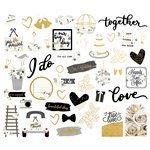 Simple Stories - Always and Forever Collection - Bits and Pieces with Foil Accents