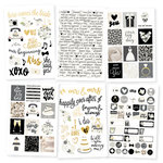 Simple Stories - Always and Forever Collection - Cardstock Stickers with Foil Accents
