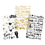 Simple Stories - Always and Forever Collection - Clear Stickers with Foil Accents