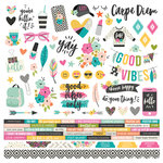 Simple Stories - Good Vibes Collection - 12 x 12 Cardstock Stickers - Combo