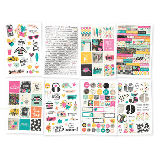 Simple Stories - Good Vibes Collection - Cardstock Stickers