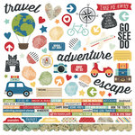 Simple Stories - Travel Notes Collection - 12 x 12 Cardstock Stickers - Combo
