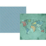 Simple Stories - Travel Notes Collection - 12 x 12 Double Sided Paper - See the World