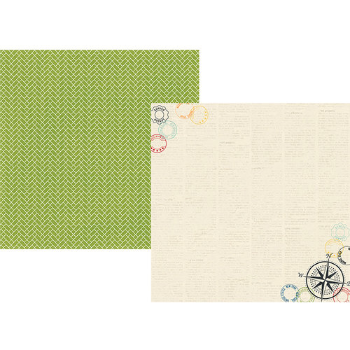 Simple Stories - Travel Notes Collection - 12 x 12 Double Sided Paper - Adventure Awaits
