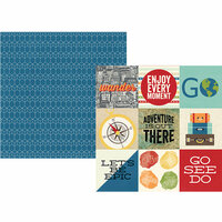 Simple Stories - Travel Notes Collection - 12 x 12 Double Sided Paper - 4 x 4 Elements