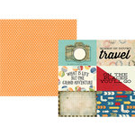 Simple Stories - Travel Notes Collection - 12 x 12 Double Sided Paper - 4 x 6 Horizontal Elements