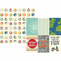 Simple Stories - Travel Notes Collection - 12 x 12 Double Sided Paper - 4 x 6 Vertical Elements