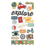 Simple Stories - Travel Notes Collection - Chipboard Stickers