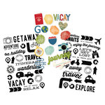 Simple Stories - Travel Notes Collection - Clear Stickers