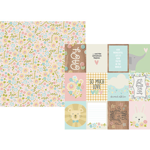 Simple Stories - Oh, Baby Collection - 12 x 12 Double Sided Paper - 3 x 4 Elements