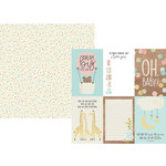 Simple Stories - Oh, Baby Collection - 12 x 12 Double Sided Paper - 4 x 6 Vertical Elements