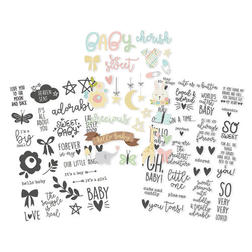 Simple Stories - Oh, Baby Collection - Clear Stickers
