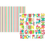 Simple Stories - Hello Summer Collection - 12 x 12 Double Sided Paper - Who's Ready for Summer