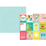 Simple Stories - Hello Summer Collection - 12 x 12 Double Sided Paper - 3 x 4 Elements