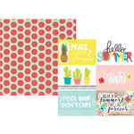 Simple Stories - Hello Summer Collection - 12 x 12 Double Sided Paper - 4 x 6 Horizontal Elements