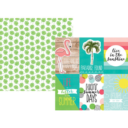 Simple Stories - Hello Summer Collection - 12 x 12 Double Sided Paper - 4 x 6 Vertical Elements