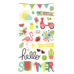 Simple Stories - Hello Summer Collection - Chipboard Stickers