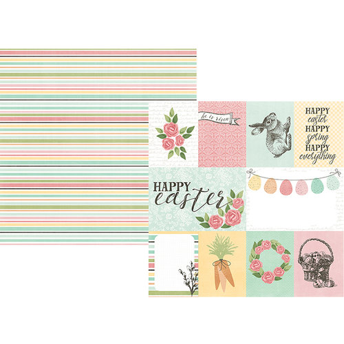 Simple Stories - Happy Easter Collection - 12 x 12 Double Sided Paper - 3 x 4 and 4 x 6 Elements
