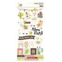 Simple Stories - Mama Llama Collection - Cardstock Stickers