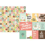 Simple Stories - Mama Llama Collection - 12 x 12 Double Sided Paper - 3 x 4 and 4 x 6 Elements