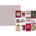 Simple Stories - Plaid Dad Collection - 12 x 12 Double Sided Paper - 3 x 4 and 4 x 6 Elements