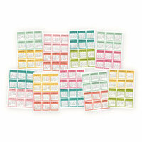 Carpe Diem - Cardstock Stickers - Mini Monthly Calendar - 2018 and 2019
