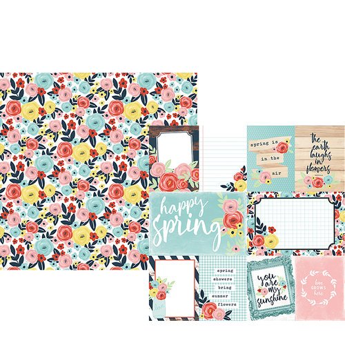 Simple Stories - Welcome Spring Collection - 12 x 12 Double Sided Paper - 3 x 4 and 4 x 6 Elements