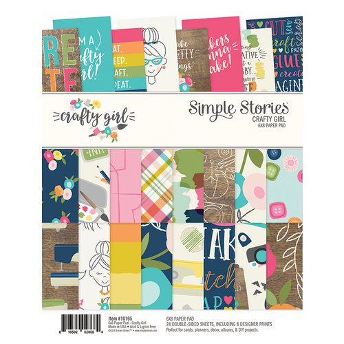 Simple Stories - Crafty Girl Collection - 6 x 8 Paper Pad