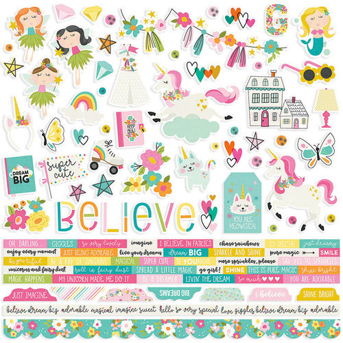 Simple Stories - Dream Big Collection - 12 x 12 Cardstock Stickers - Combo