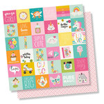 Simple Stories - Dream Big Collection - 12 x 12 Double Sided Paper - 2 x 2 Elements