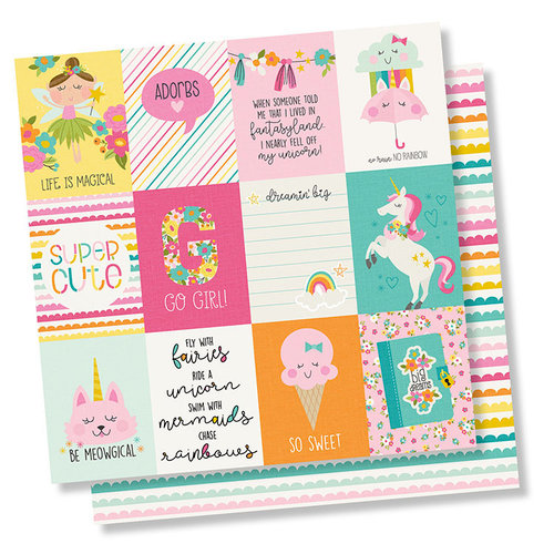 Simple Stories - Dream Big Collection - 12 x 12 Double Sided Paper - 3 x 4 Elements