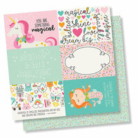 Simple Stories - Dream Big Collection - 12 x 12 Double Sided Paper - 4 x 6 Elements