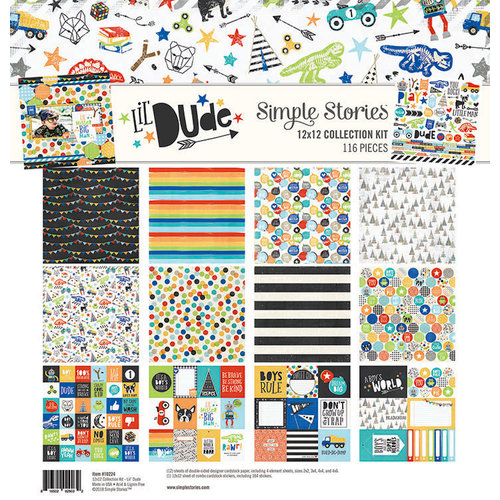 Simple Stories - Lil' Dude Collection - 12 x 12 Collection Kit