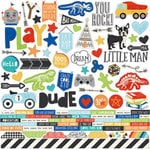 Simple Stories - Lil' Dude Collection - 12 x 12 Cardstock Stickers - Combo
