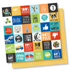 Simple Stories - Lil' Dude Collection - 12 x 12 Double Sided Paper - 2 x 2 Elements