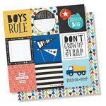 Simple Stories - Lil' Dude Collection - 12 x 12 Double Sided Paper - 4 x 4 Elements