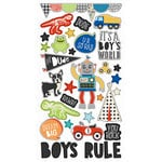 Simple Stories - Lil' Dude Collection - Chipboard Stickers