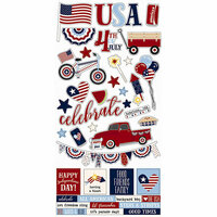 Simple Stories - Hometown USA Collection - Cardstock Stickers
