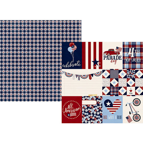 Simple Stories - Hometown USA Collection - 12 x 12 Double Sided Paper - 3 x 4 and 4 x 6 Elements