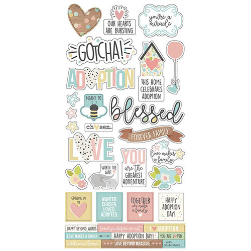 Simple Stories - Oh Baby Adoption Collection - Cardstock Stickers